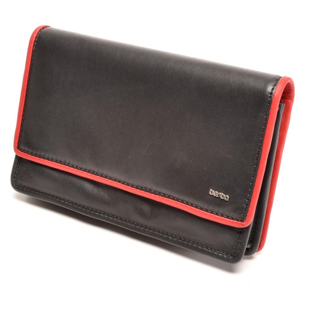 berba Soft - Geldbörse in schwarz-rot