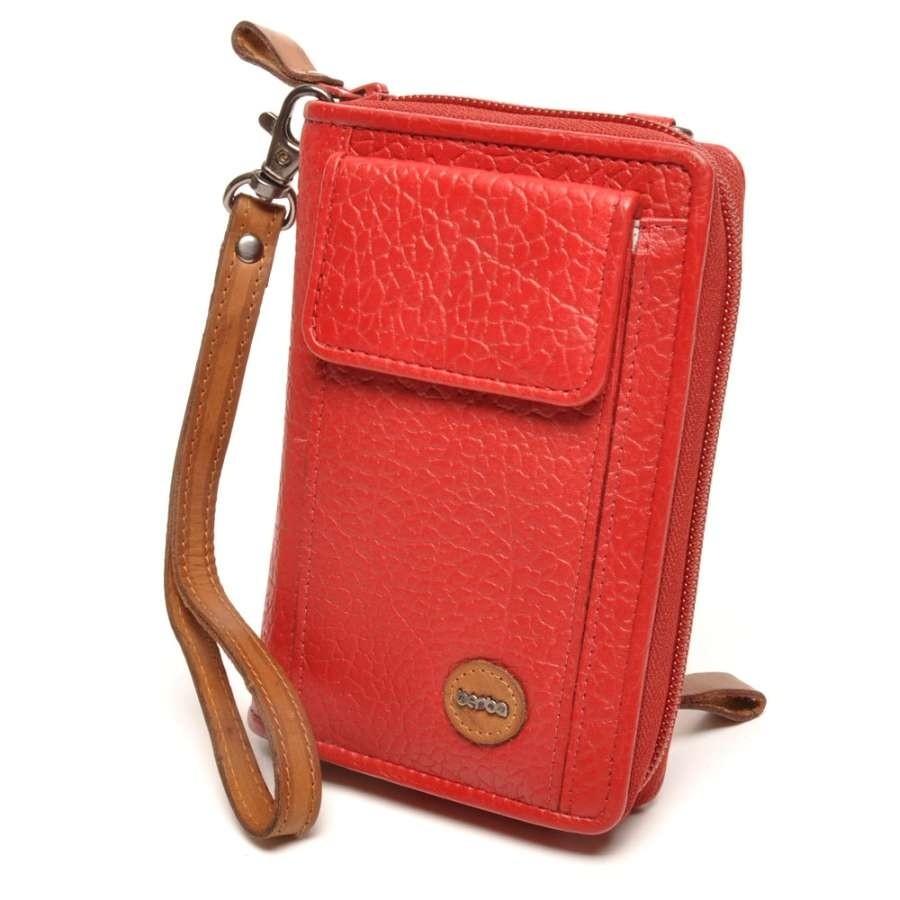 berba Chamonix - Kombinationsbörse/tasche mit iPhone-Fach in rot