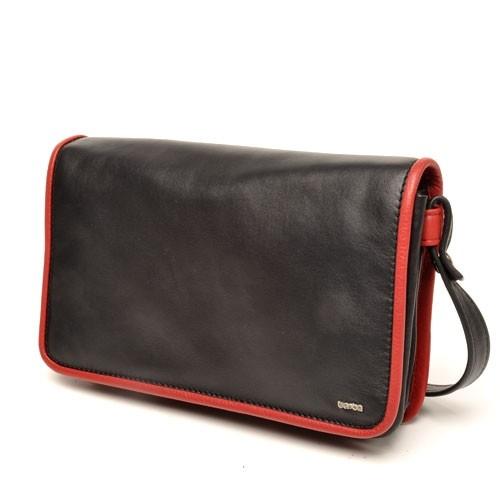 berba Soft - Umhängetasche in schwarz-rot