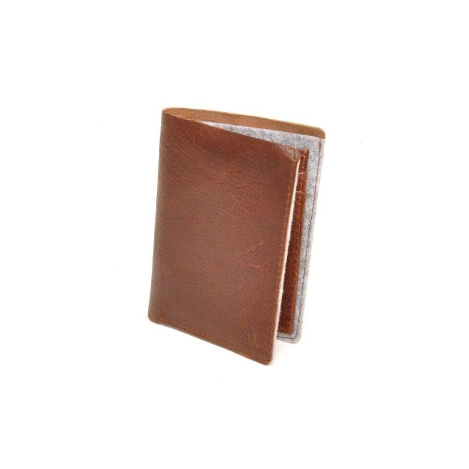 berba Bern 151 - Kreditkartenetui in cognac