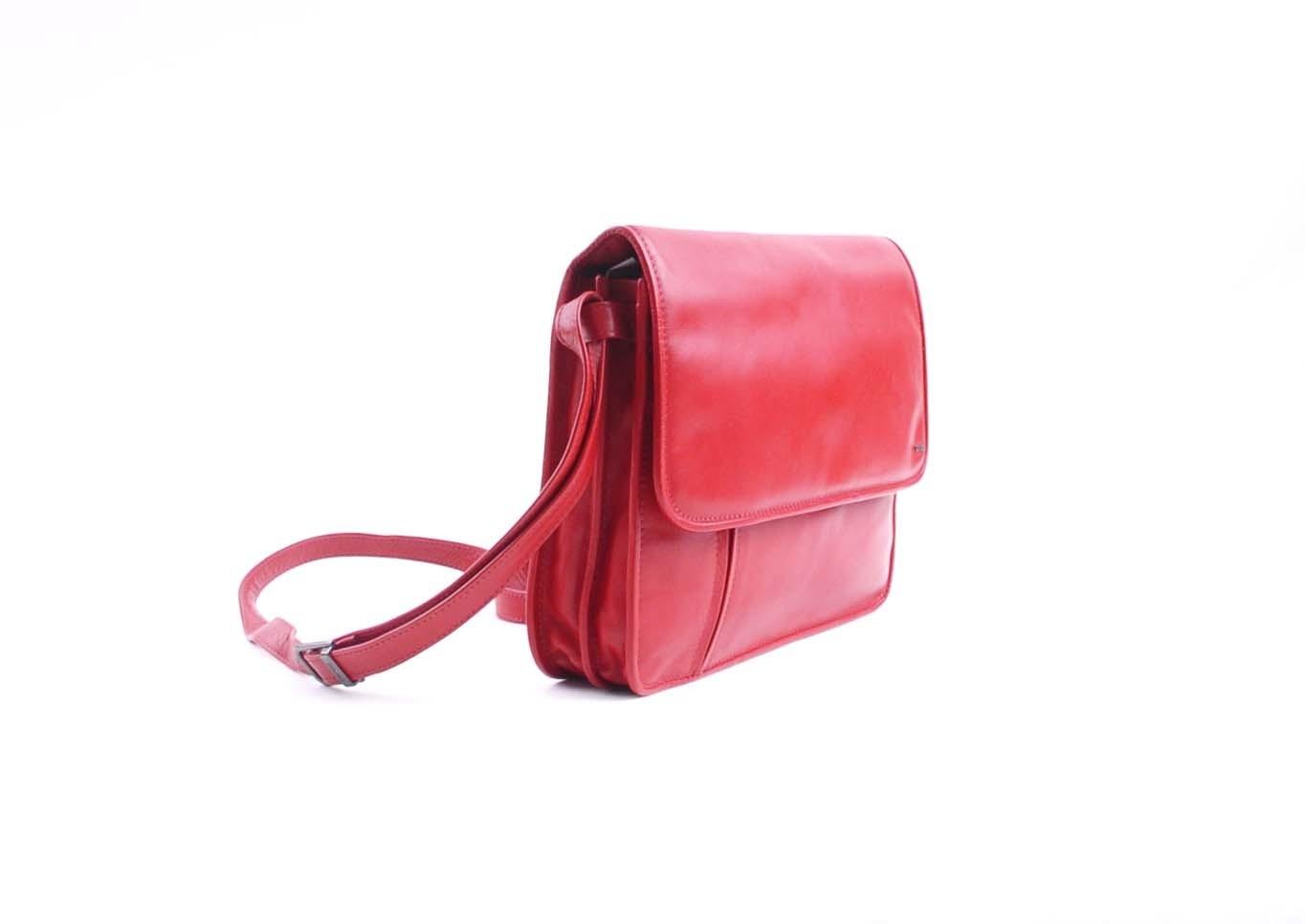 berba Soft 571 - Damentasche in rot Seitenansicht