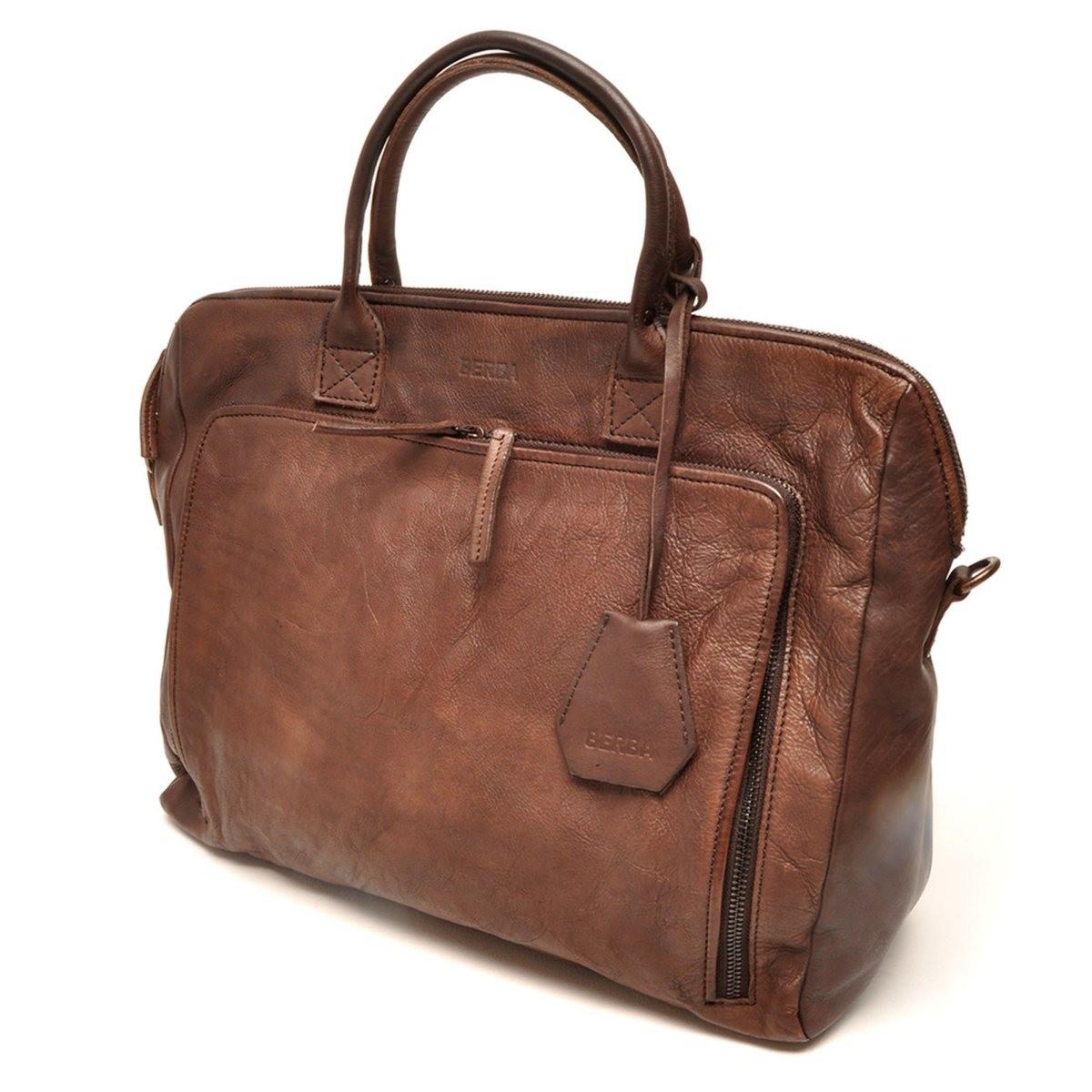 berba Sion 789 - Businesstasche in dark brown Seitenansicht