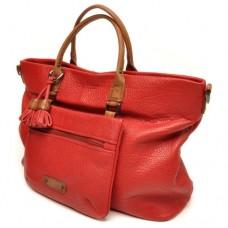 berba Chamonix - Doppelhandtasche in rot