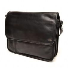 berba Soft - Kleine Überschlagtasche in schwarz-taupe