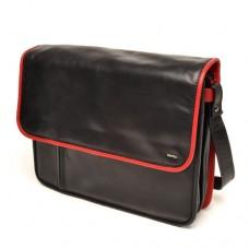 berba Soft - Kleine Überschlagtasche in schwarz-rot