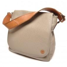 berba Chamonix - Überschlagtasche in grau-braun
