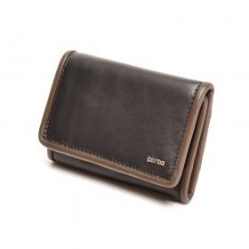 berba Soft 169  Überschlagbörse in schwarz -taupe