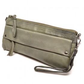 berba Basel 220  Clutch / Unterklemmtasche in dunkelgrün - vintage