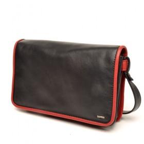 berba Soft 117  Umhängetasche in schwarz-rot